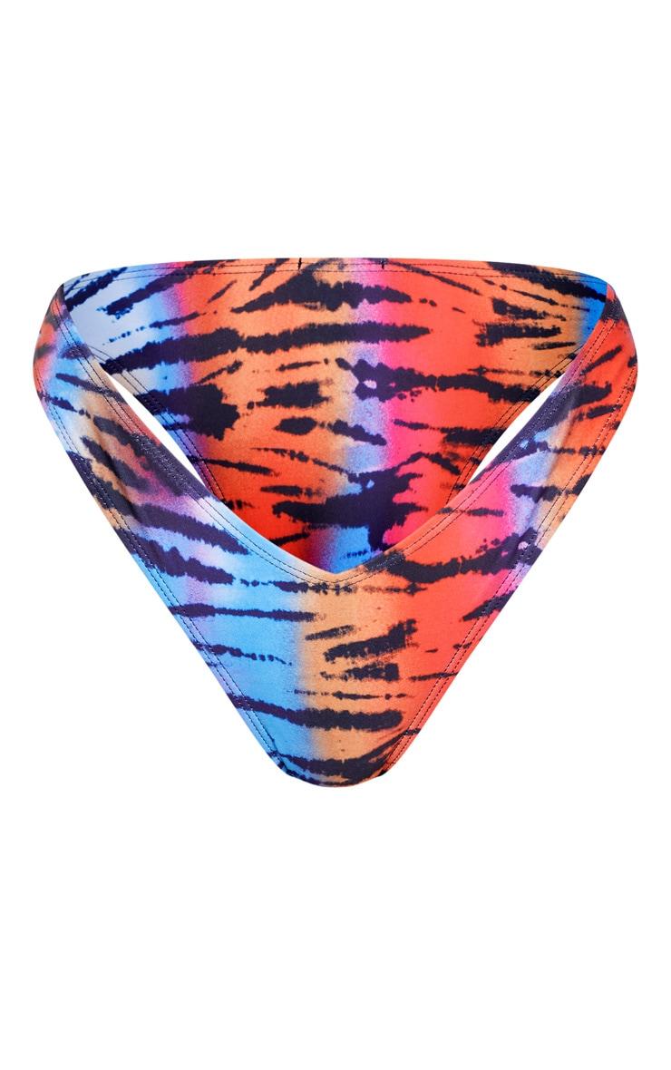 Multi Tiger Deep Side V Bikini Bottom 4