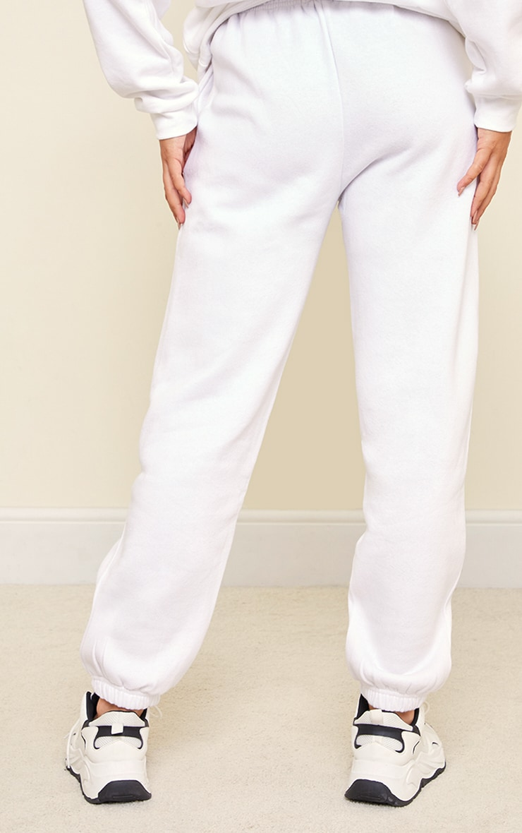 White Sweat Pant Joggers 3