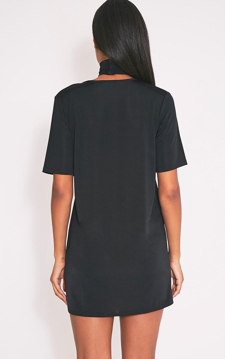 Nyla robe t-shirt col en V près du corps noire 2