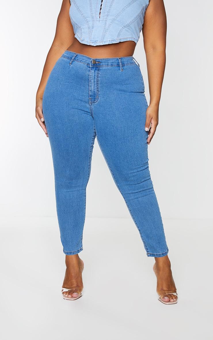 Plus Mid Wash Disco Fit Skinny Jean 2