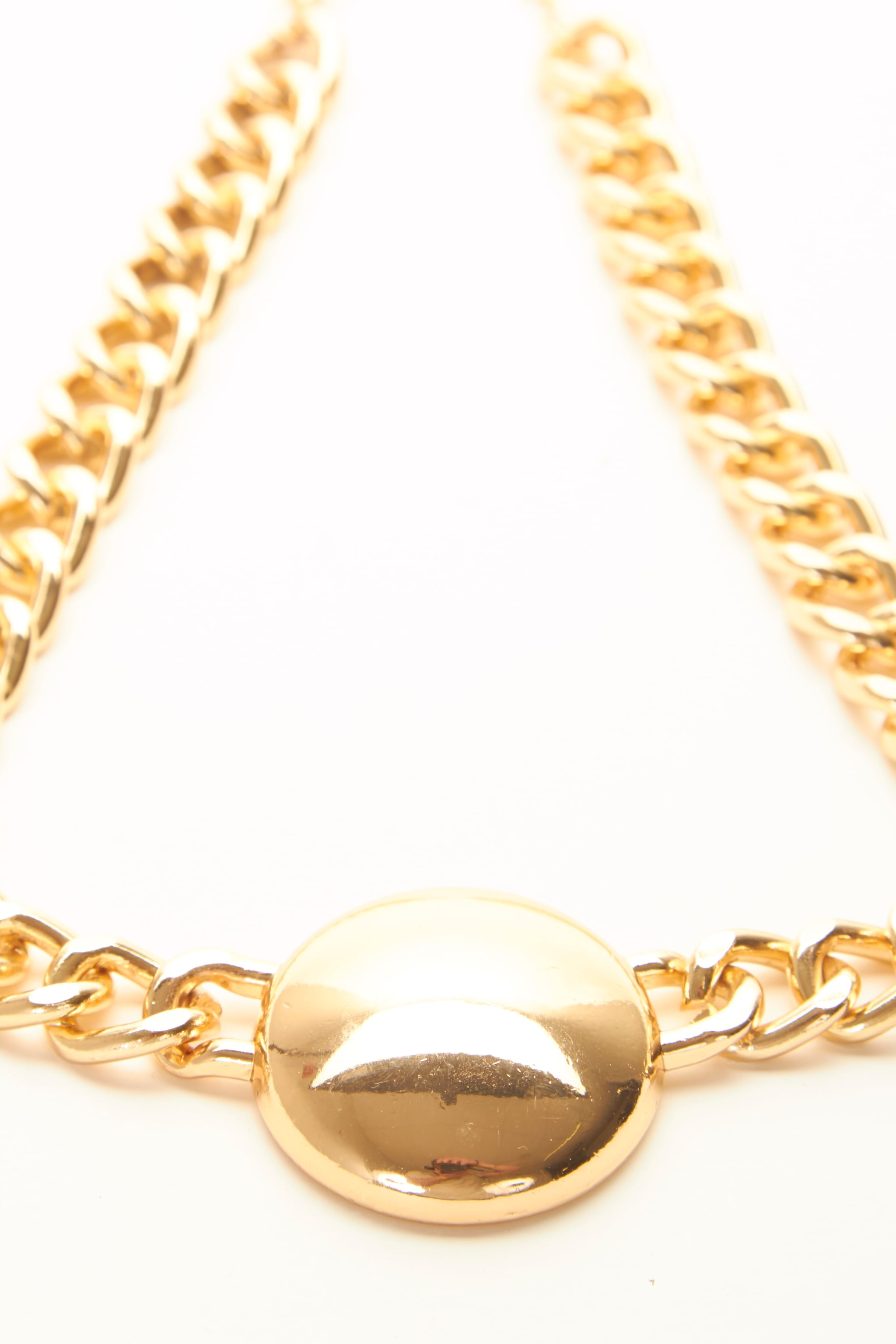 Cammy Gold Circle Chunky Chain Necklace 3