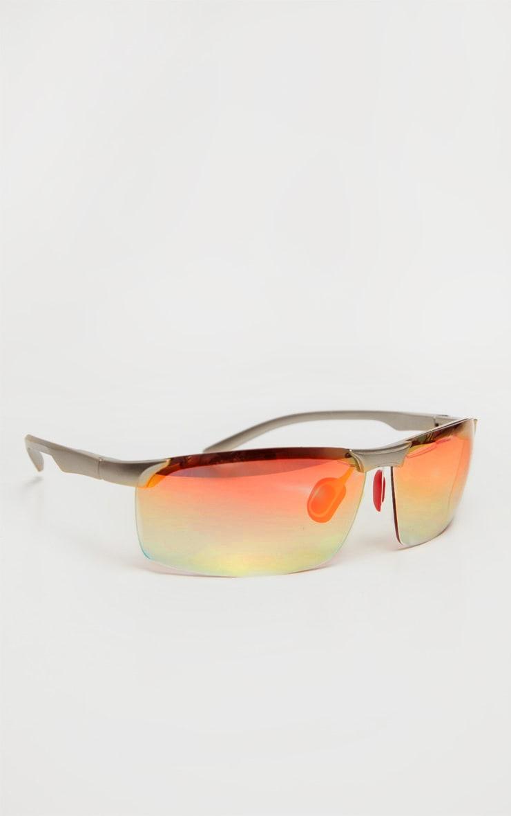 Gold Multi Coloured Lens Sunglasses 3