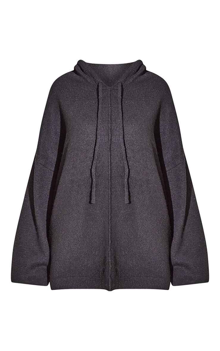RENEW Black Knitted Slouchy Hoodie 5