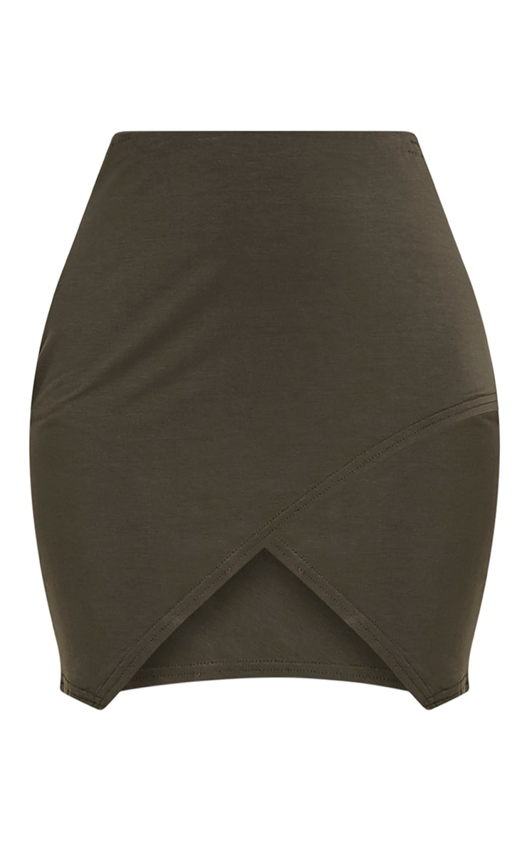 Myla Khaki Wrap Mini Skirt 3