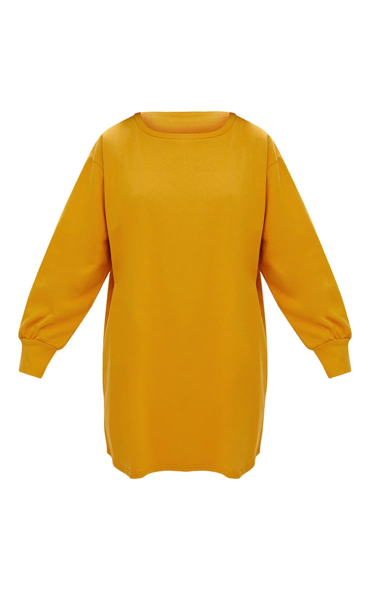 Mustard Oversized Sweater Dress 3