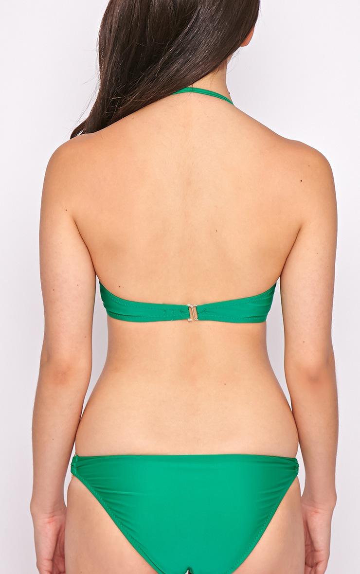 Hailey Green Twist Bandeau Bikini Top 2