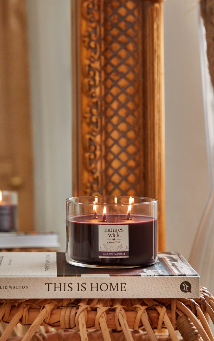 Natures Wick by Woodwick Three Wick Tumbler Wildberry & Jasmine