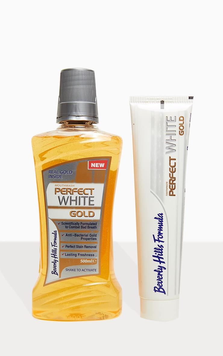Beverly Hills Formula Perfect White Gold Toothpaste & Mouthwash Bundle 2