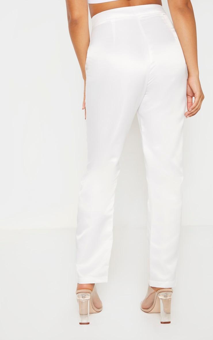 Petite Cream Skinny Suit Pants 4