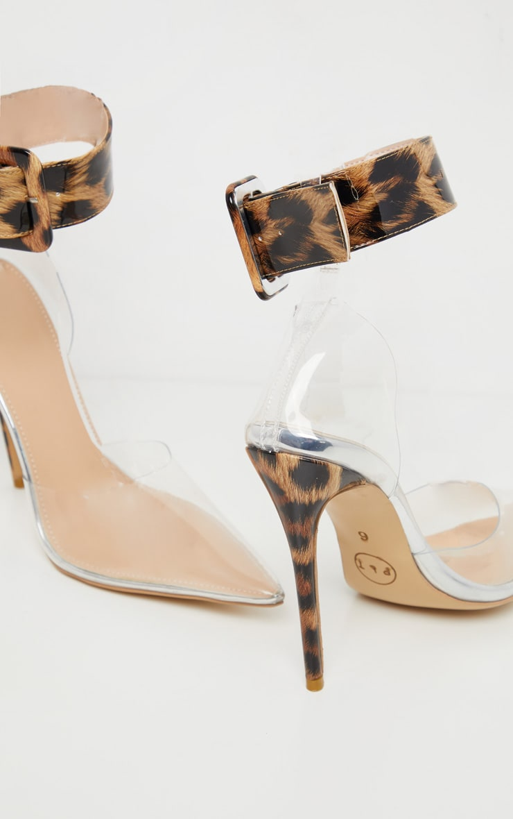 Leopard Cuff Detail Court Shoes 4