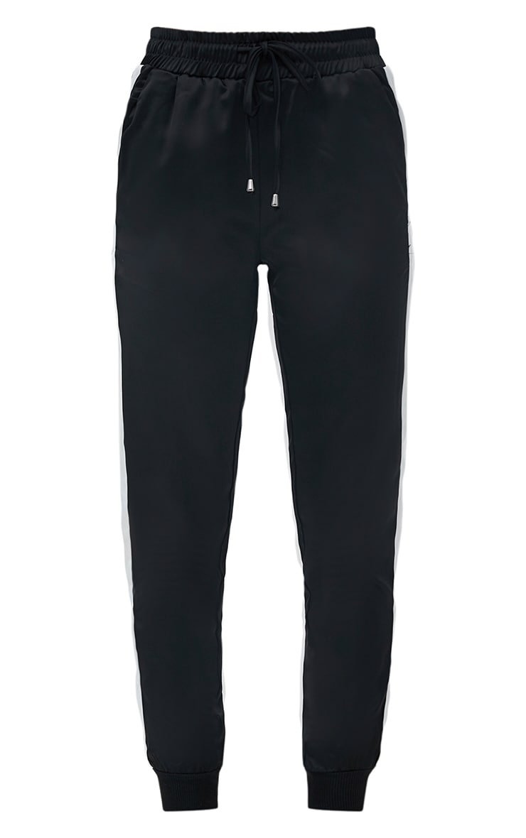Black Sport Stripe Jogger  3