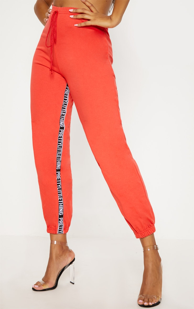 PRETTYLITTLETHING Red Joggers 2