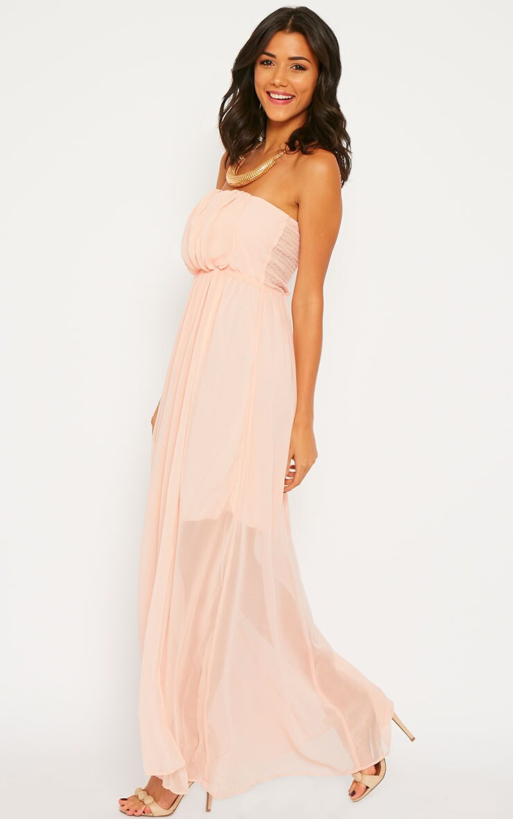 Brigette Pink Bandeau Maxi Dress 3