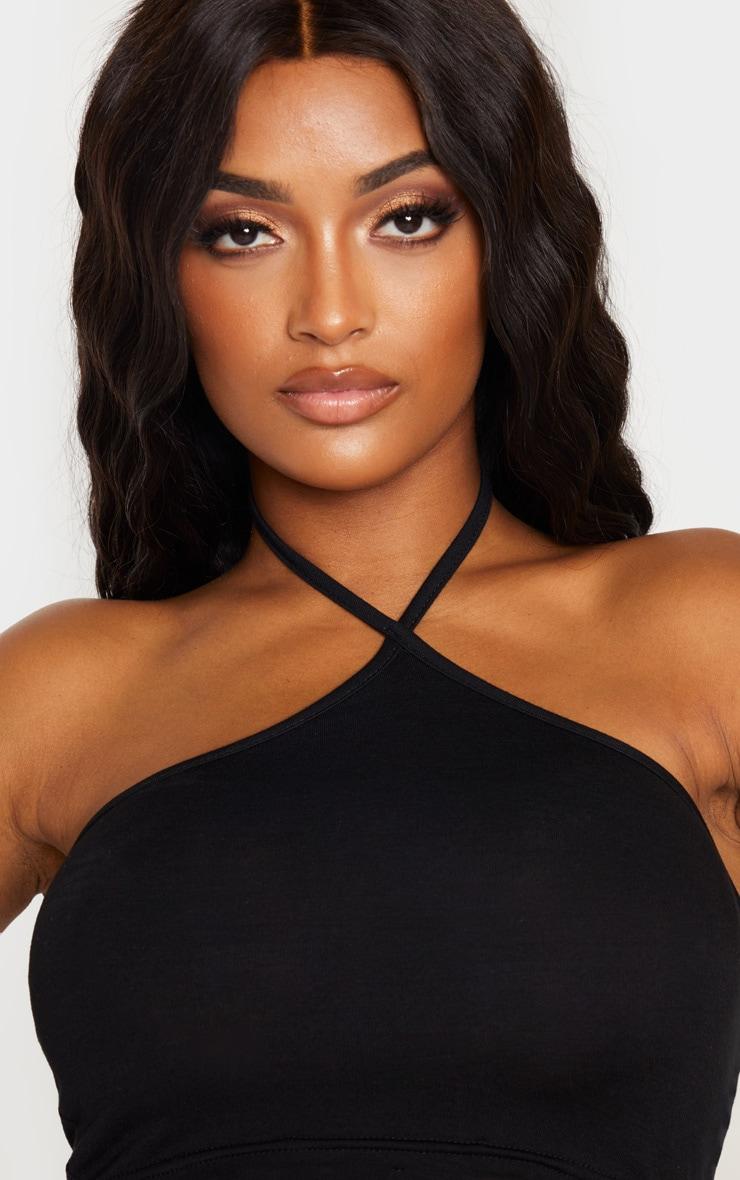 Shape Black Jersey Halterneck Cropped Top 5