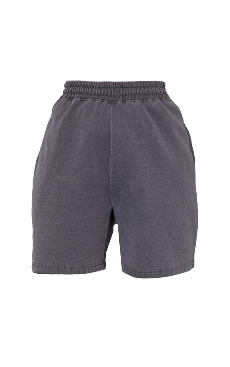 Grey Washed Sweat Short 6