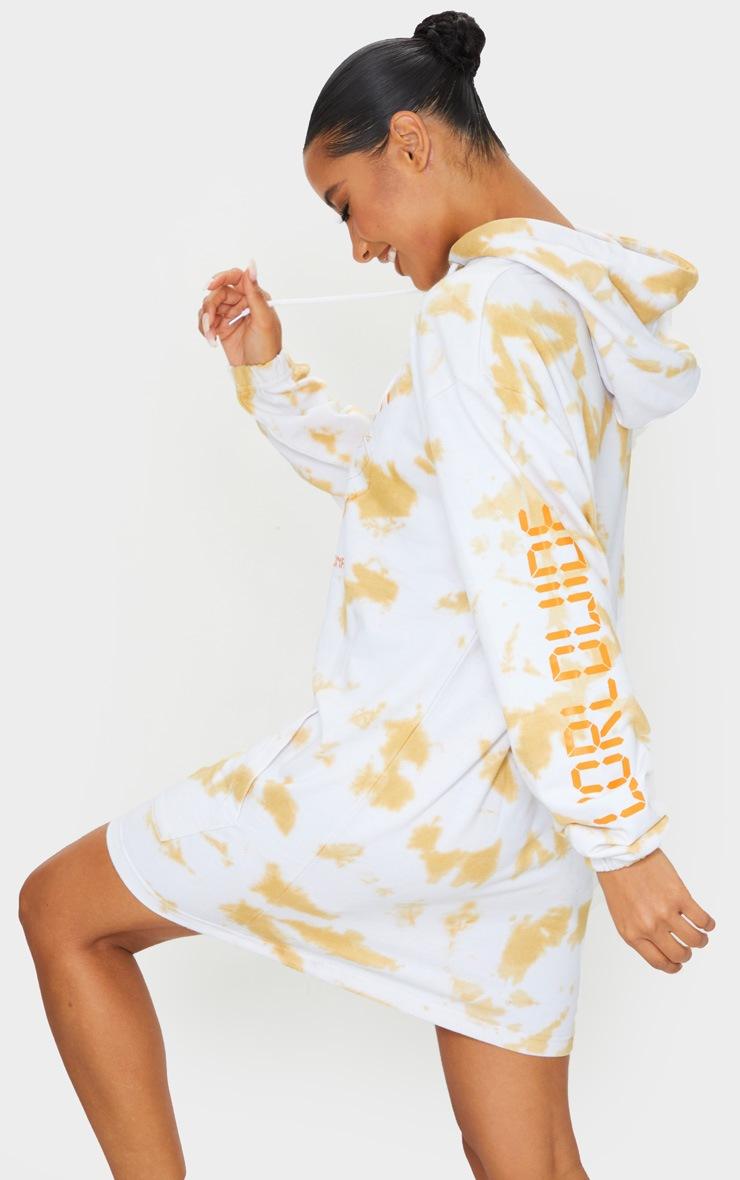 Stone Worldwide Slogan Oversized Tie Dye Hoodie Sweater Dress 2