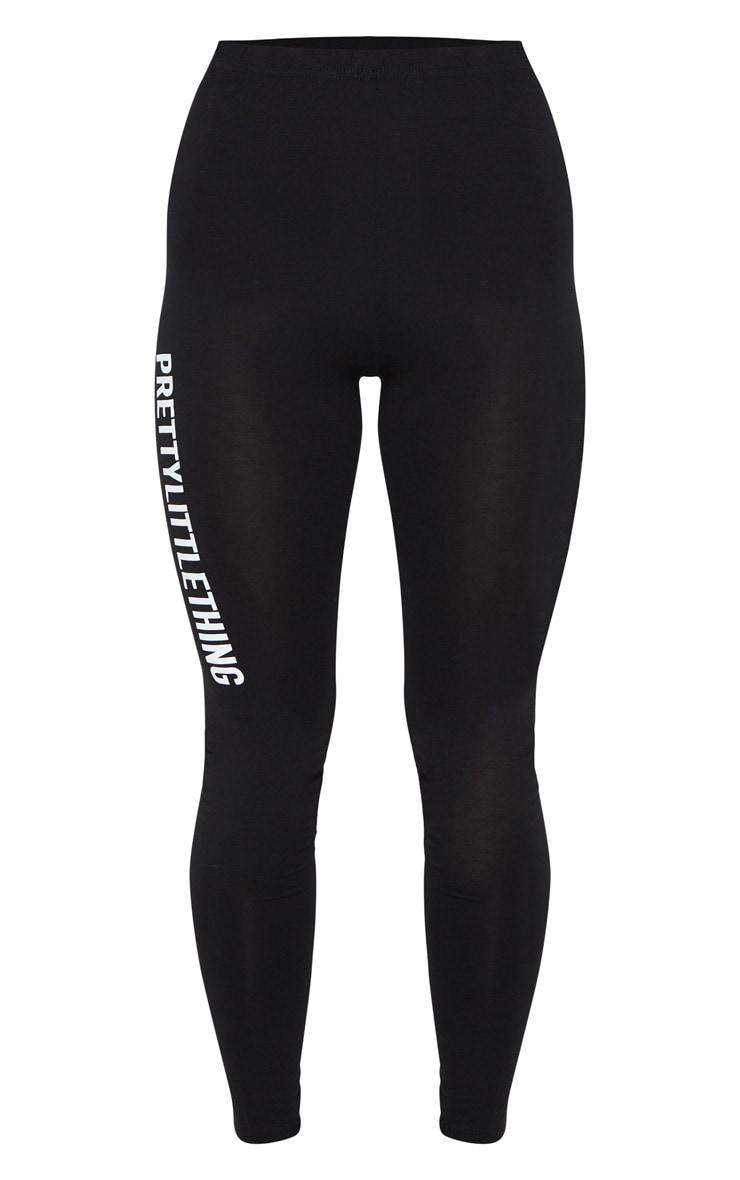 PRETTYLITTLETHING - Legging noir à slogan 5