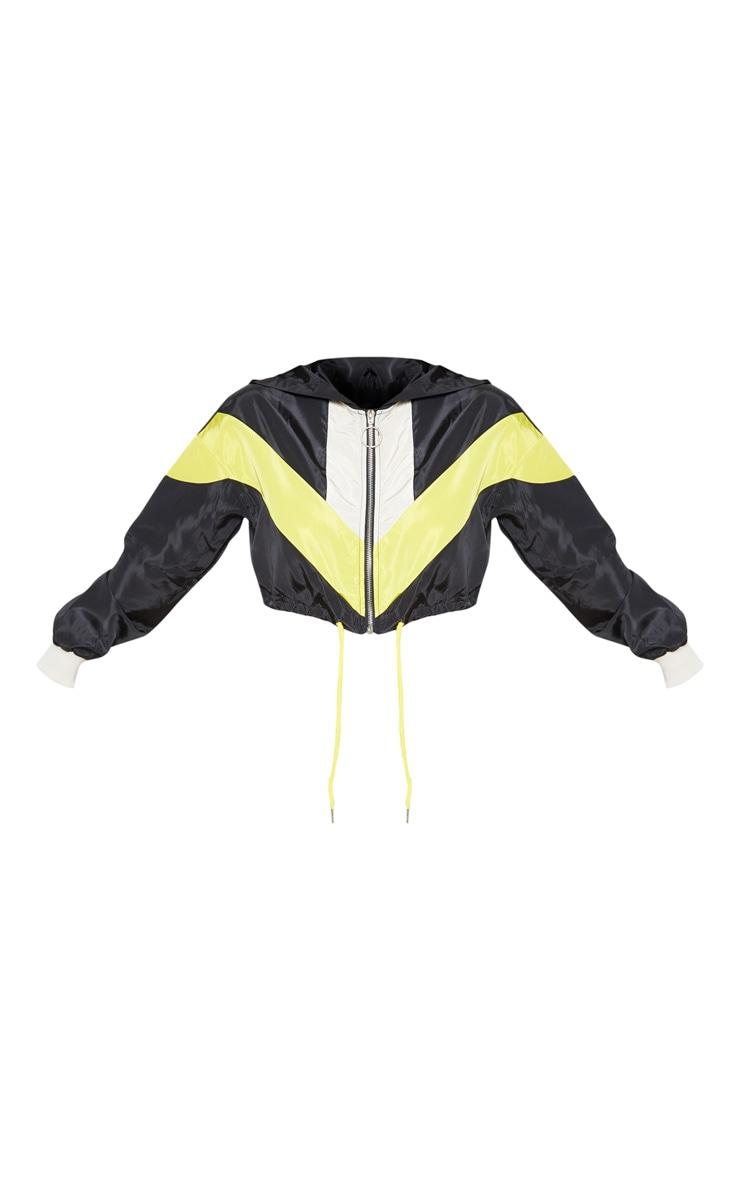 Petite Cream Colourblock Hooded Shell Suit Crop Windbreaker 4