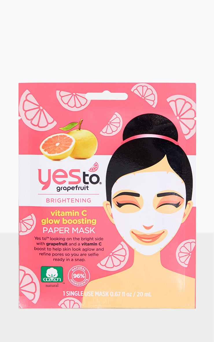 Yes To Grapefruit Vitamin C Glow Boosting Paper Mask 1