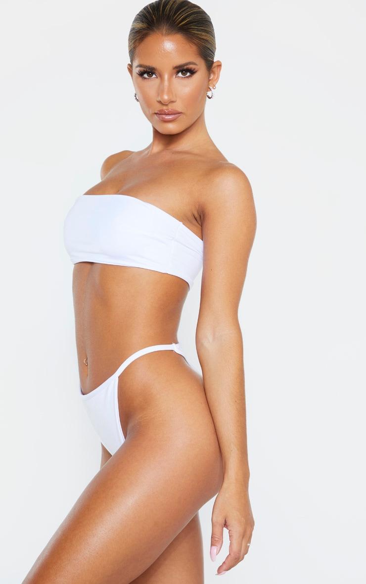 Bas de maillot de bain string blanc Mix & Match 2