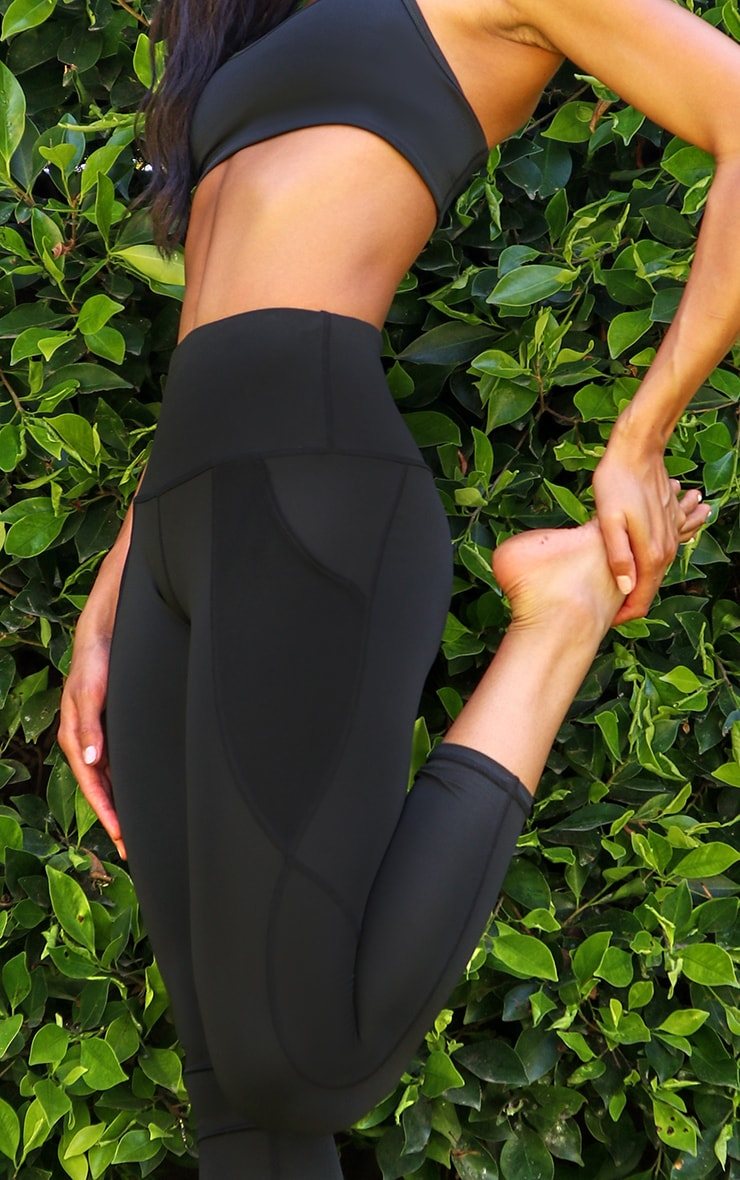 Black Side Pocket Basic Legging 4