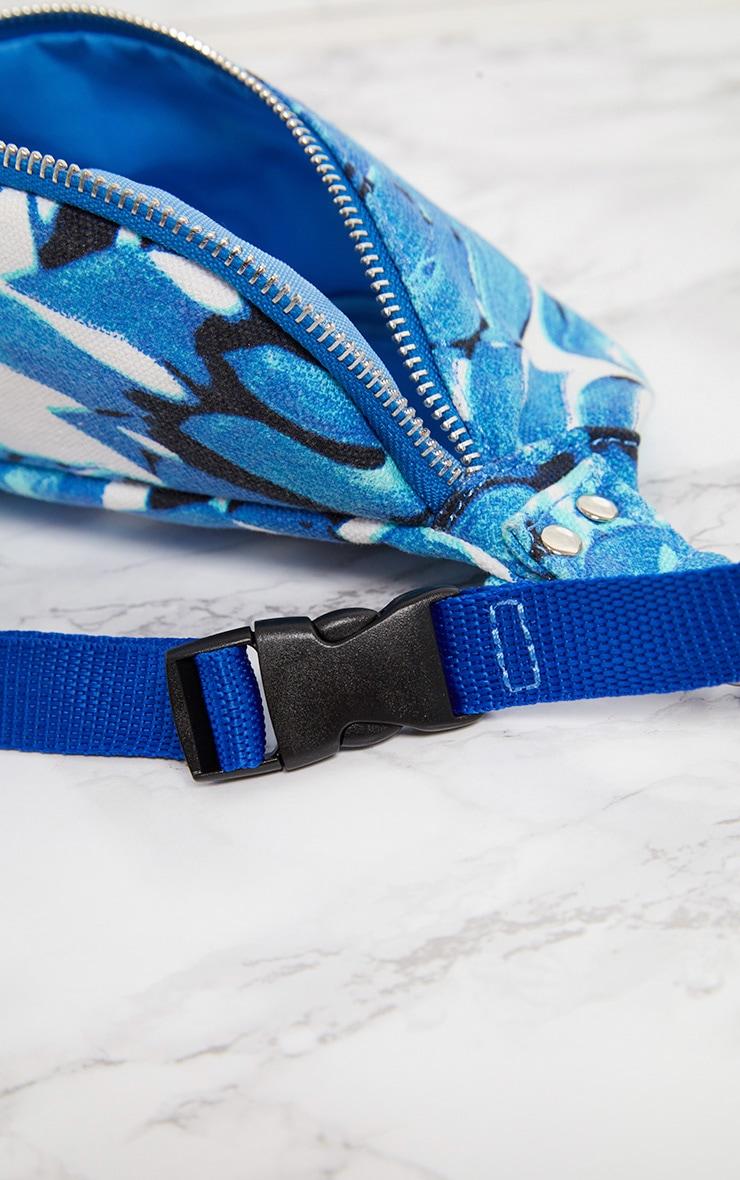 Blue Flower Bum Bag 6