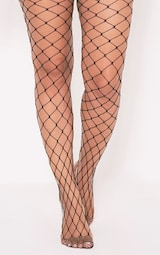 75ba28a36dbed Inari Black Large Fishnet Tights | Coats | PrettyLittleThing