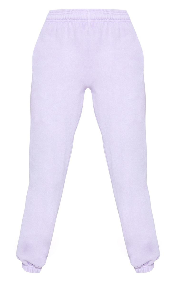 Lilac Washed Effect Casual Joggers 5