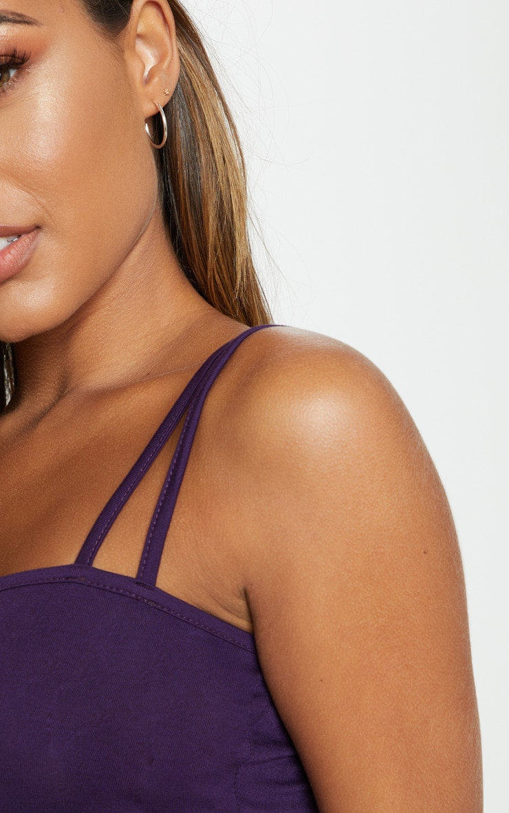 Plum Jersey Double Strap Crop Top 5