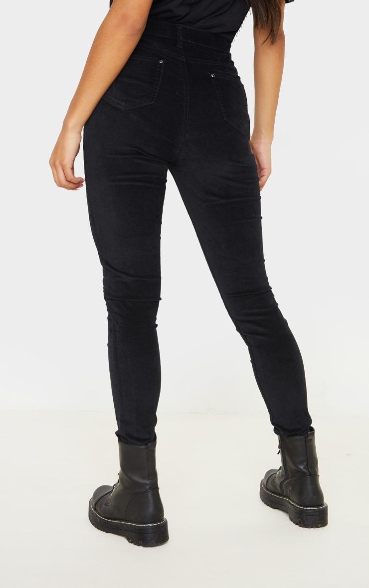 Black Velvet Skinny Jeans  4