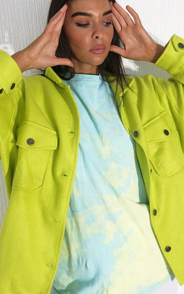 Lime Pocket Front Shacket 4