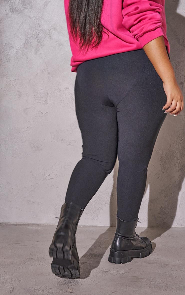 RENEW Plus Black Rib Panel Leggings 3