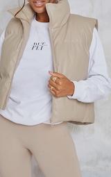 Truffle Faux Leather Gilet 4