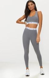 PRETTYLITTLETHING Charcoal Grey Leggings 1