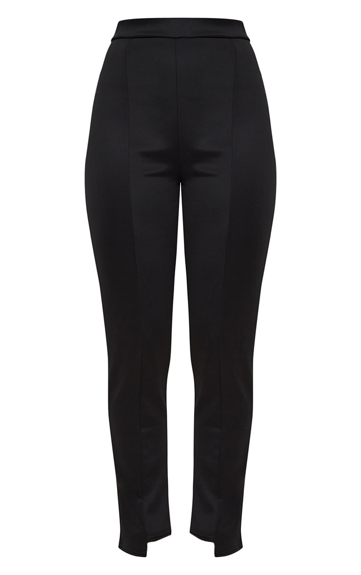 Black Scuba Step Hem Skinny Trousers 3
