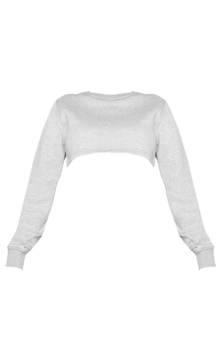 Shape Grey Extreme Cropped Sweatshirt 5