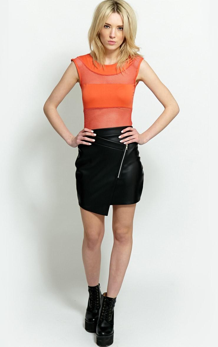 Dixie Orange Mesh Bodysuit 5