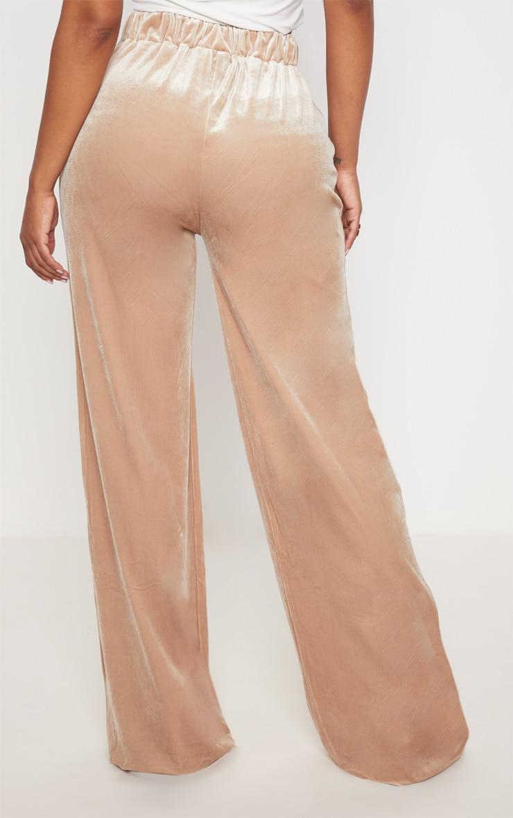 Shape Champagne Velvet Extreme Wide Leg Pants 4