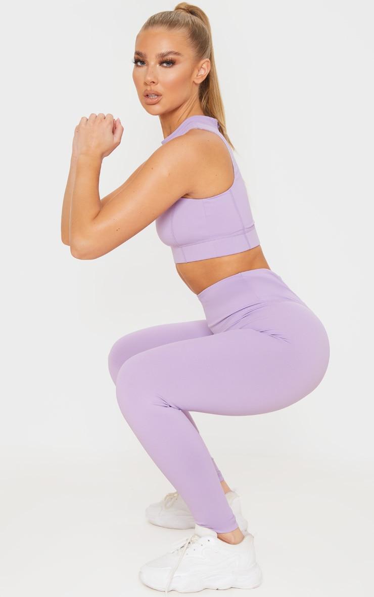 Lilac High Waist Cropped Gym Legging 1