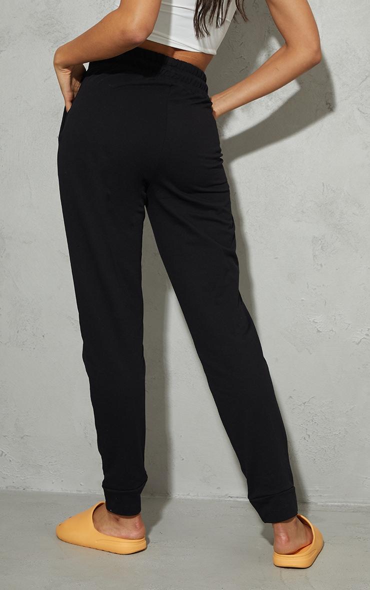 PRETTYLITTLETHING - Jogging skinny noir à logo en éponge 3