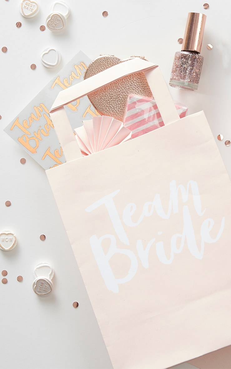 'Team Bride' Pink Party Bags 2