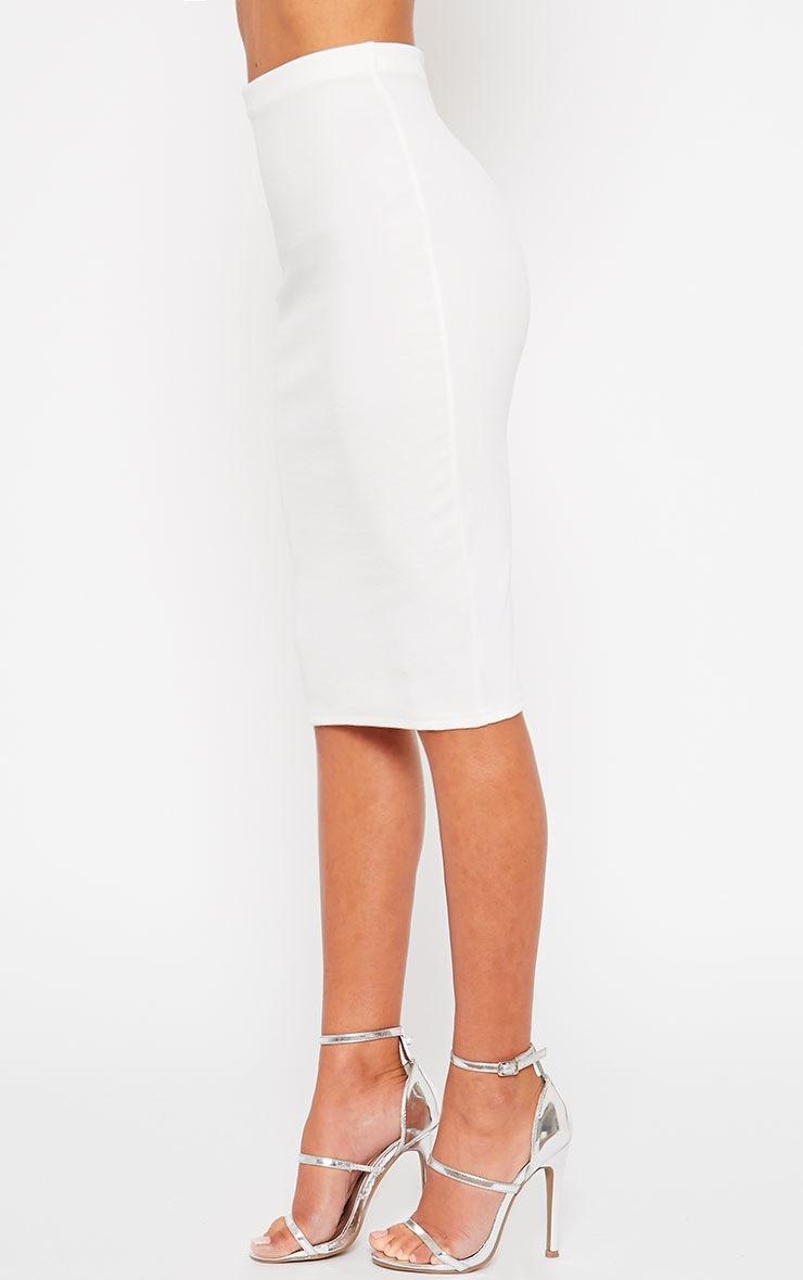 Tess Cream Crepe Midi Skirt 3