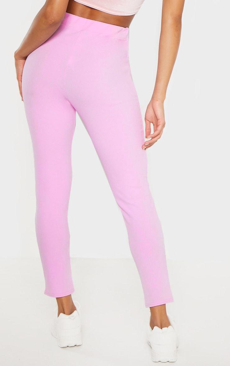 Lilac Crepe Skinny Pants 4