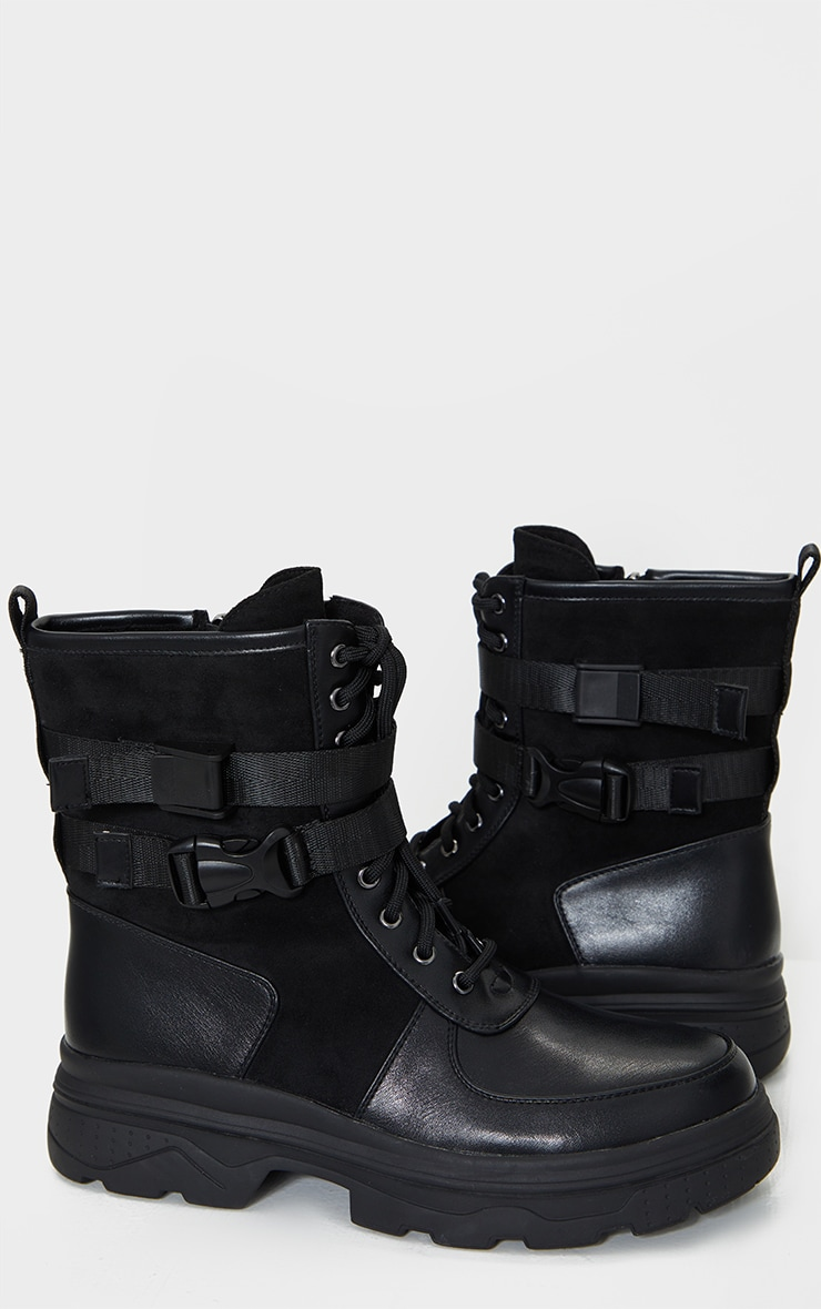 Black Military Chunky Sole Boot 4