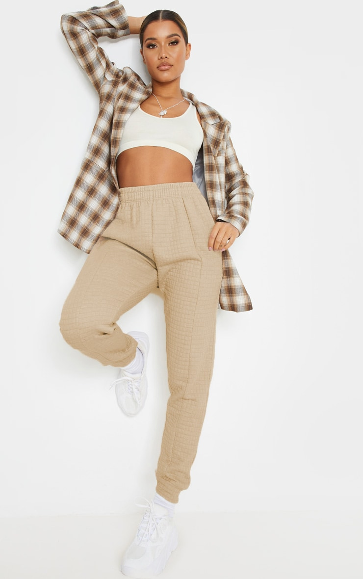 Camel Quilted Jogger 1