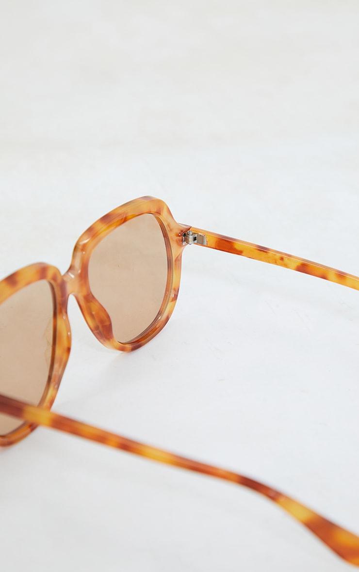 Tort Oversized Round Sunglasses 3