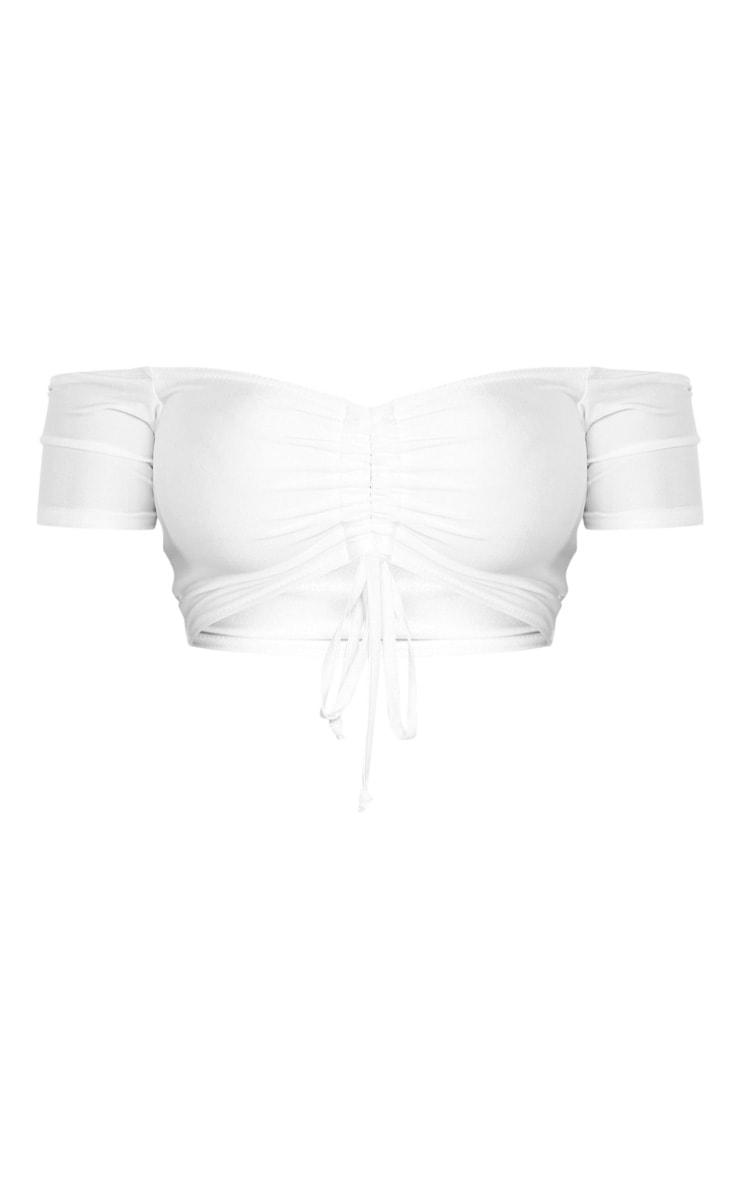 Shape White Ruched Front Bikini Top 6