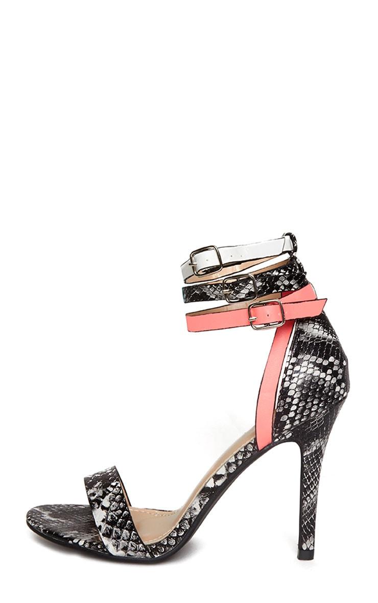 Sarita Black Snake & Fuchsia Heels 5