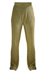 Green Textured Beach Pants 5
