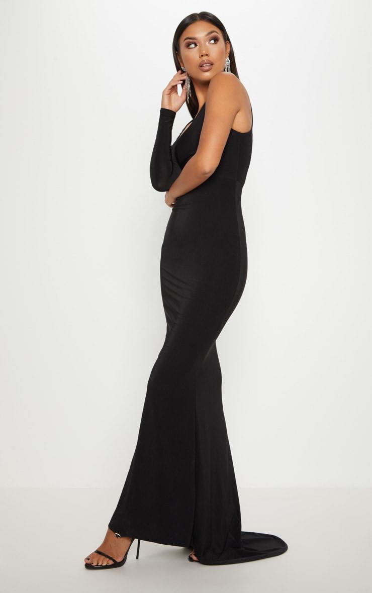 Black Wrap Sleeve Maxi Dress 4